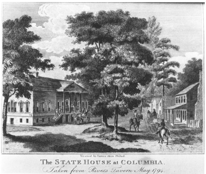 The South Carolina Statehouse in 1802 by James Akin Winterthur