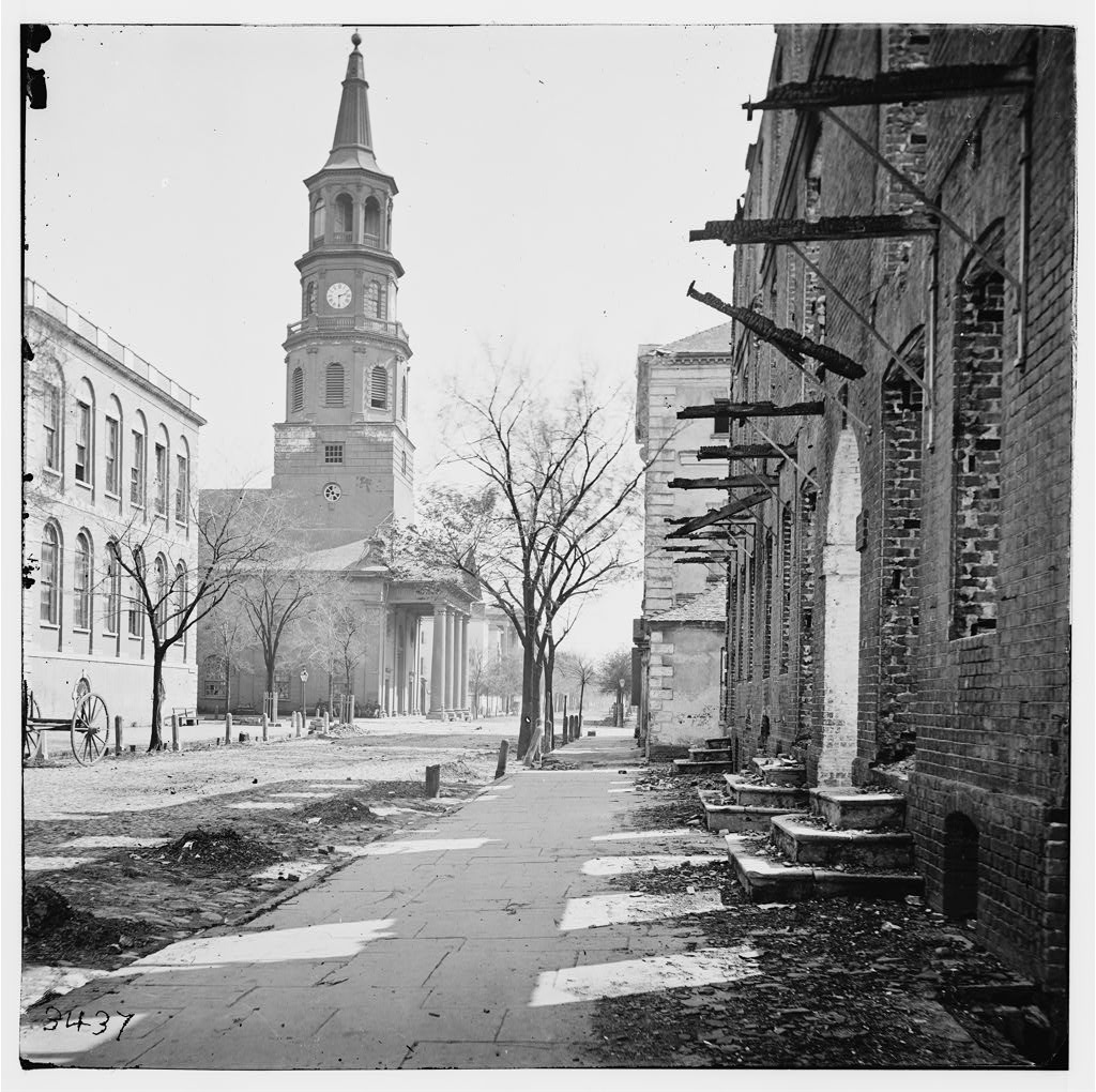 1865 image of St. Michael's Church in Charleston (Library of Congress)
