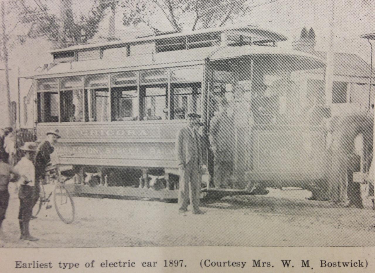 A Charleston trolley in 1897.