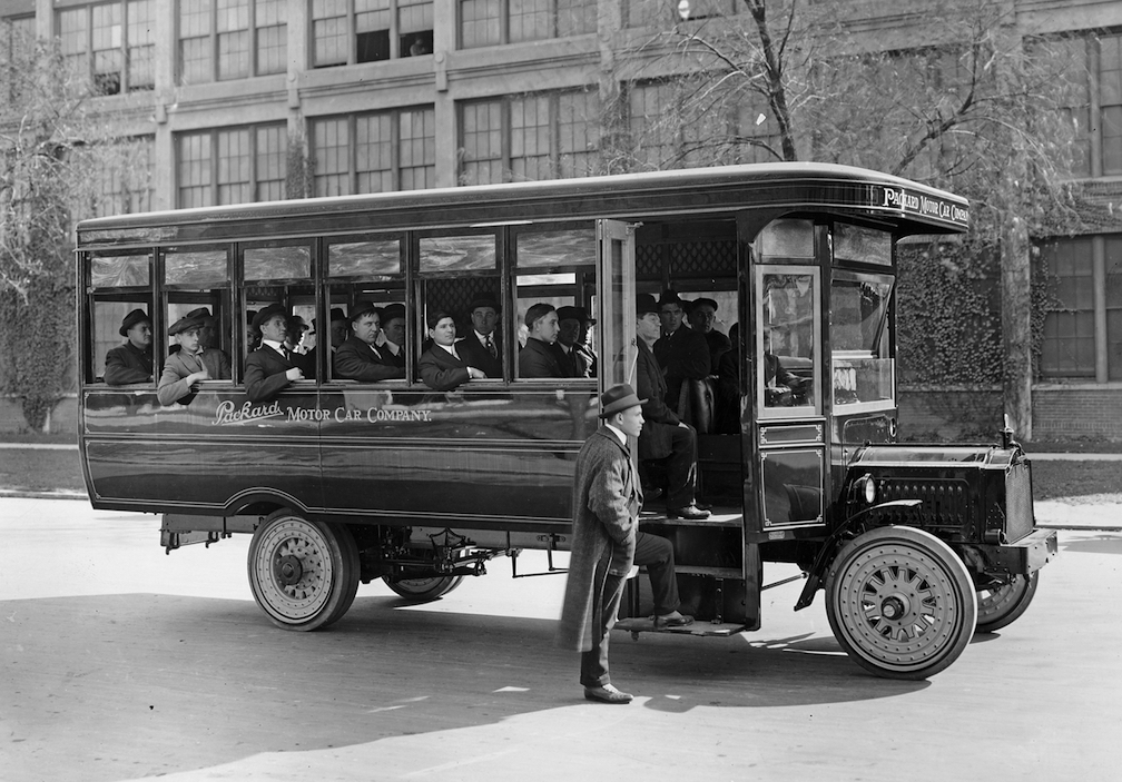 The 1917 Packard omnibus (Detroit Public Library)