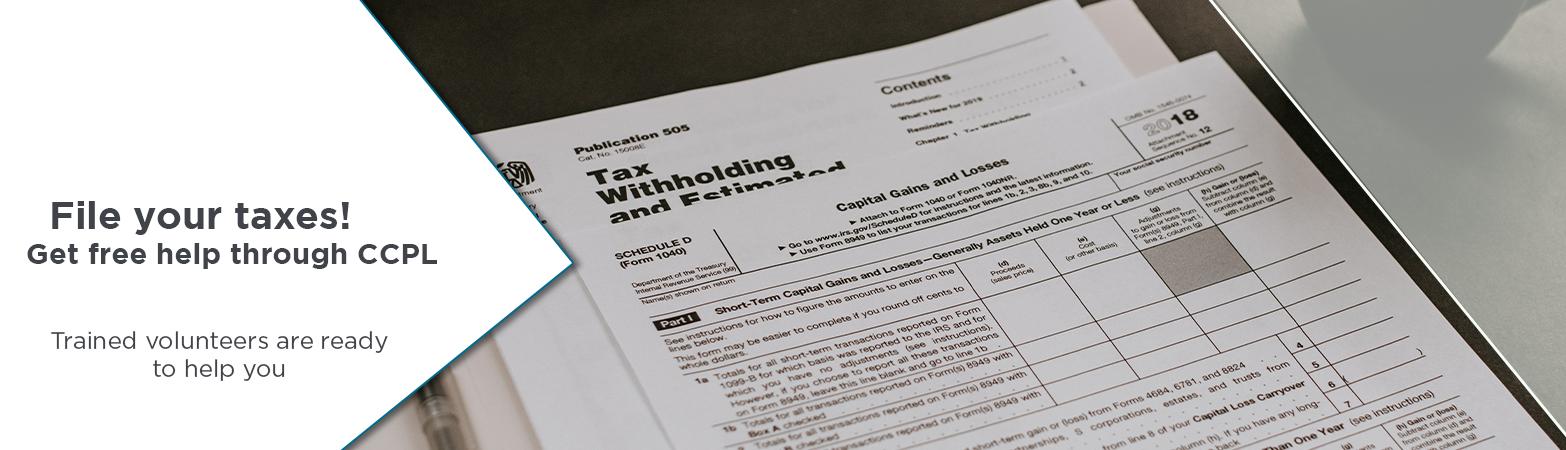 2020 Header: Tax assistance programs at CCPL