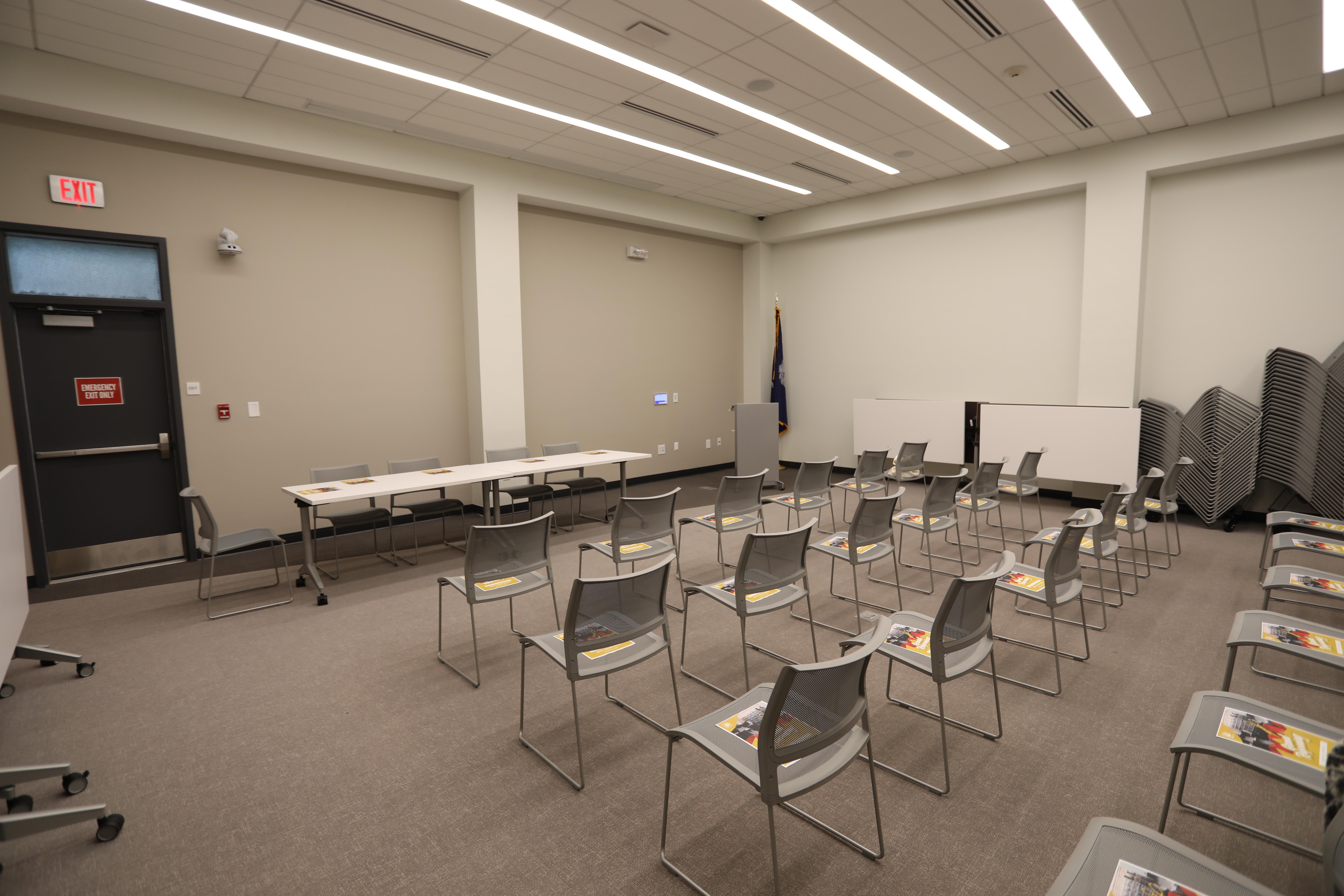 Large Room - Capacity: 55, projector, screen, audio/video equipment