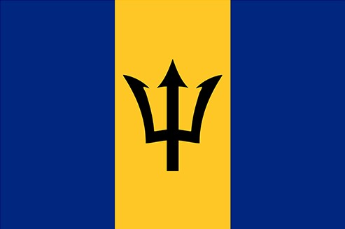 The flag of the island of Barbados