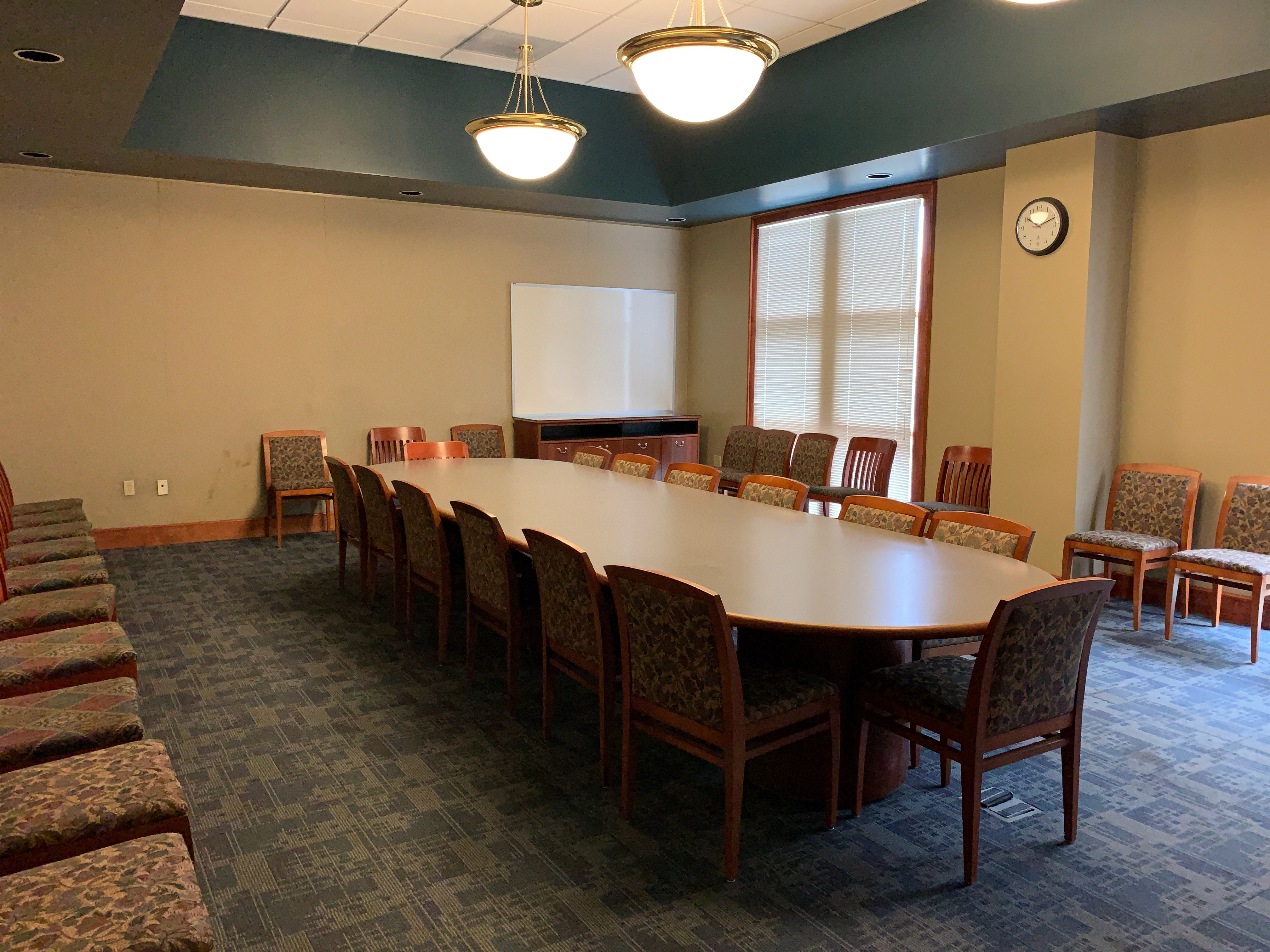 Large Room - Capacity: 55, projector, screen, audio/video equipment