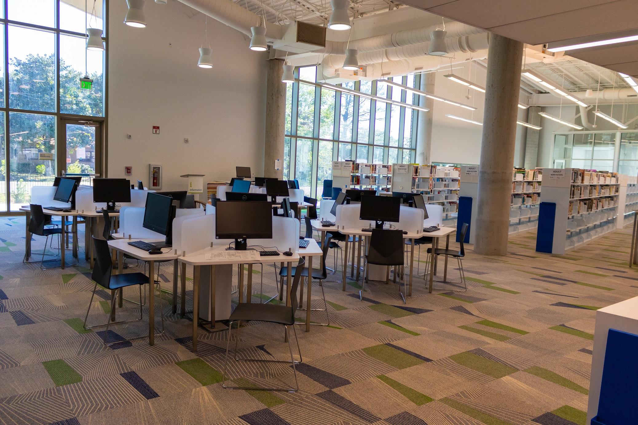 Baxter-Patrick James Island Library - public computers