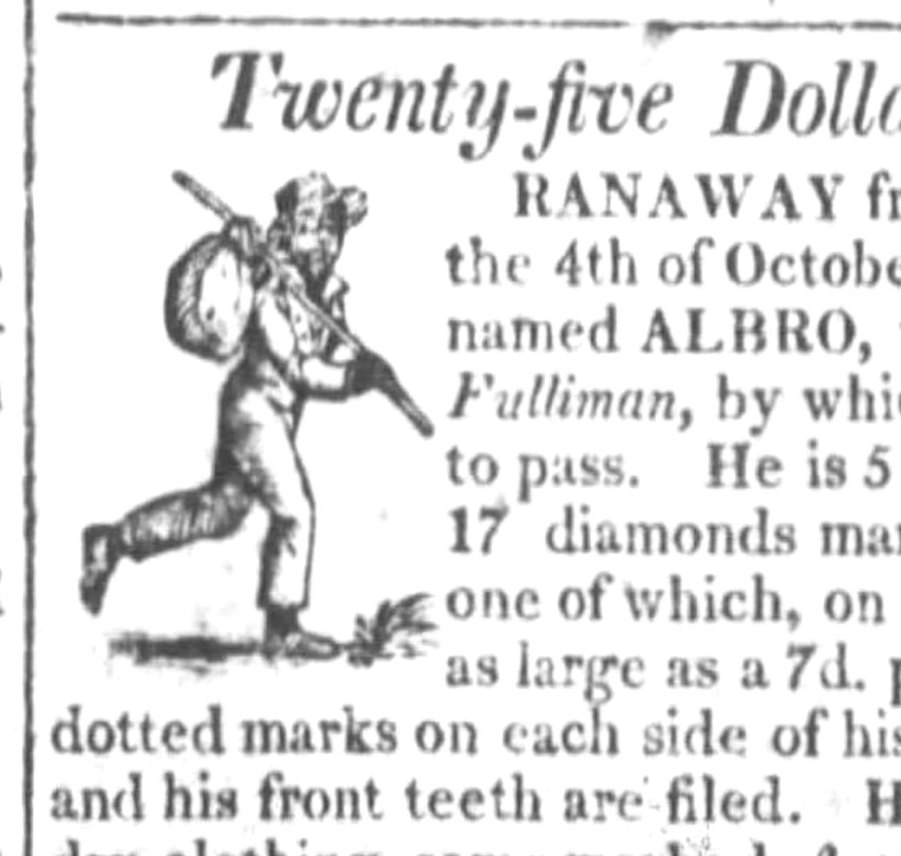 Murder and Manhunt in 1820: Albro's Flight from Slavery, Part 1