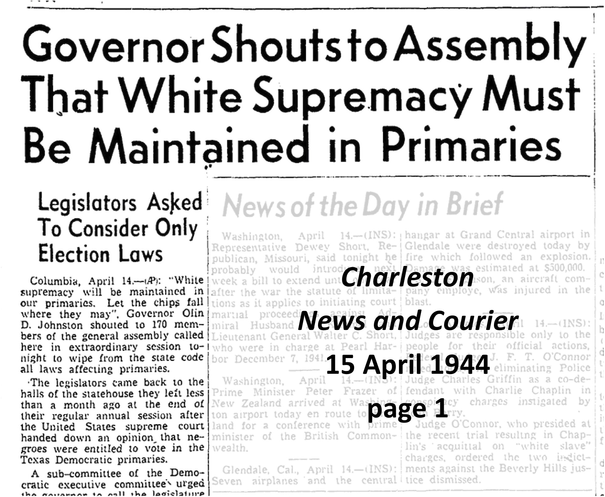 The Decline of Voter Suppression in South Carolina, 1900–1965