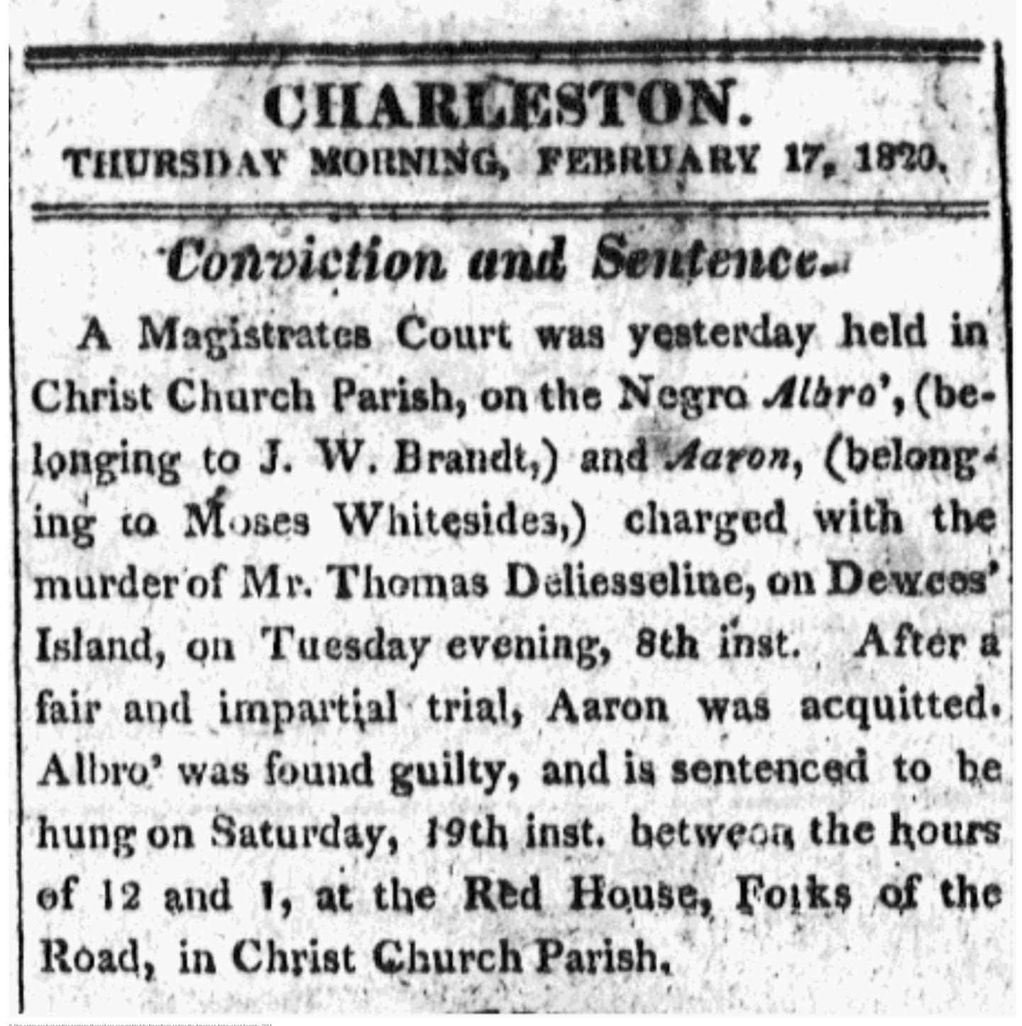 Murder and Manhunt in 1820: Albro's Flight from Slavery, Part 3