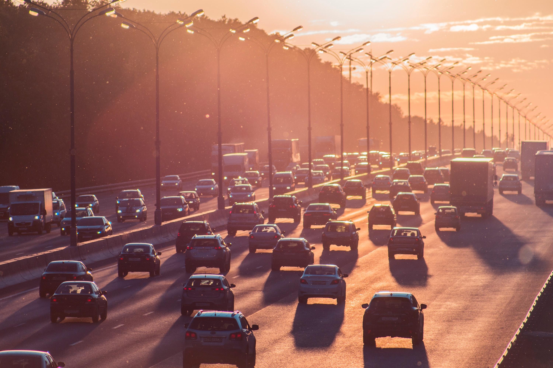 Busy interstate traffic