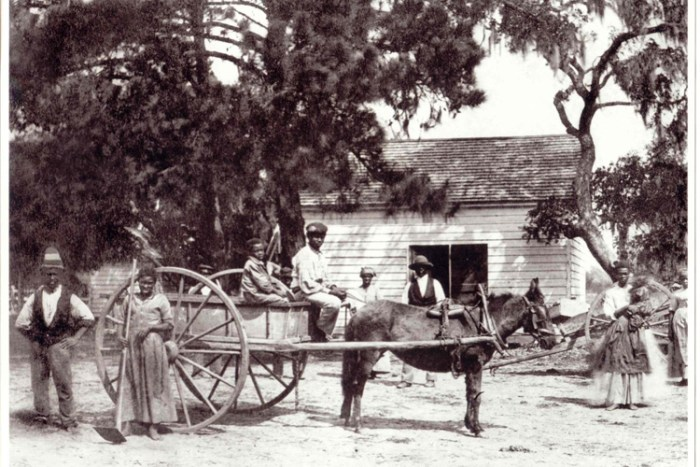 Freedpeople working on Edisto Island after the Civil War (Source: National Archives)
