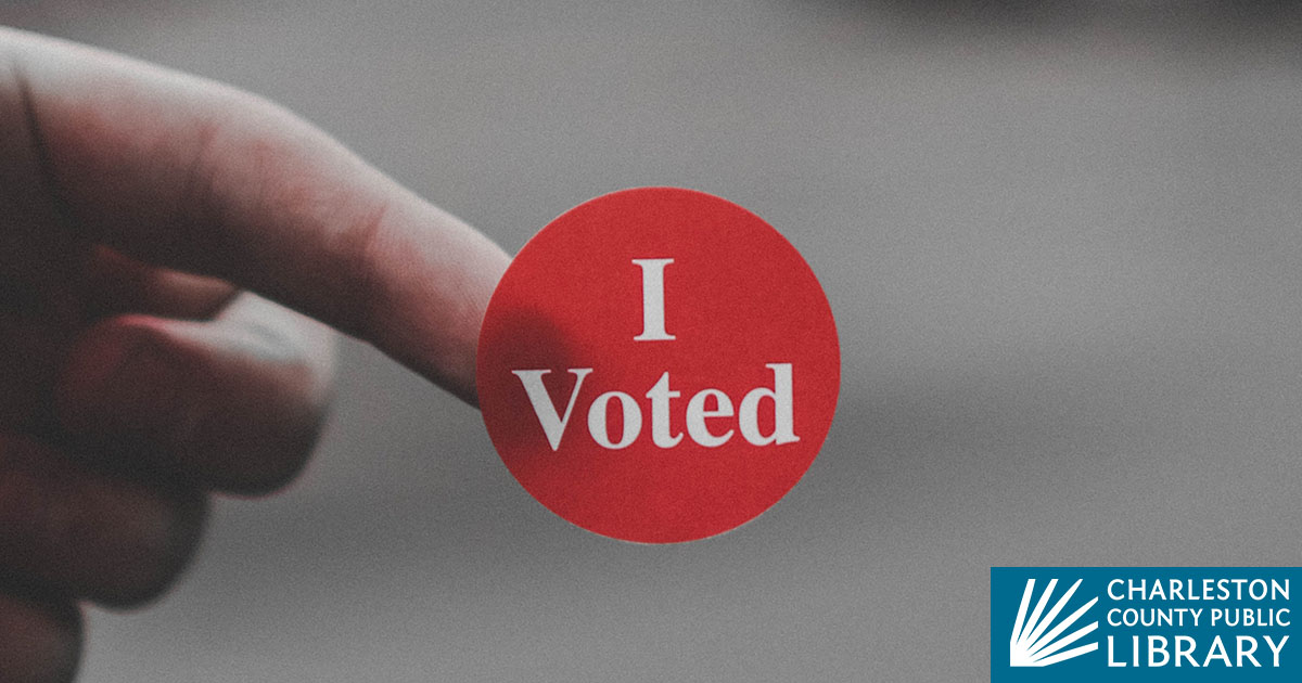 I Voted sticker on a person's finger