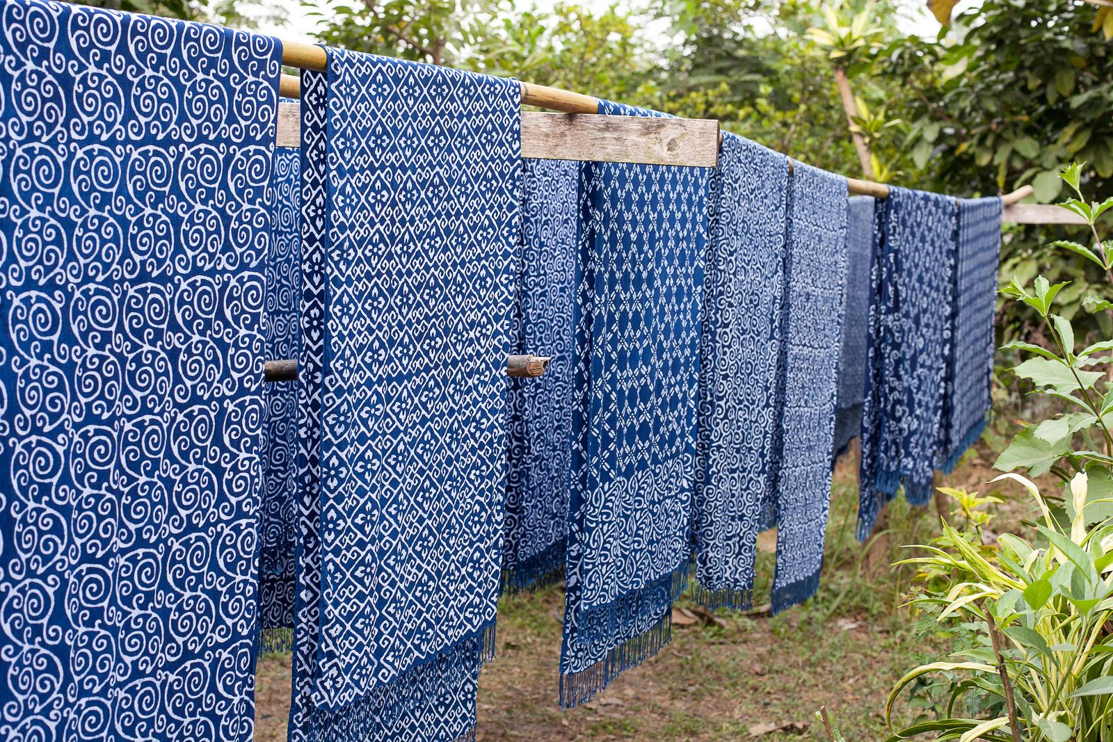 Indigo dye work