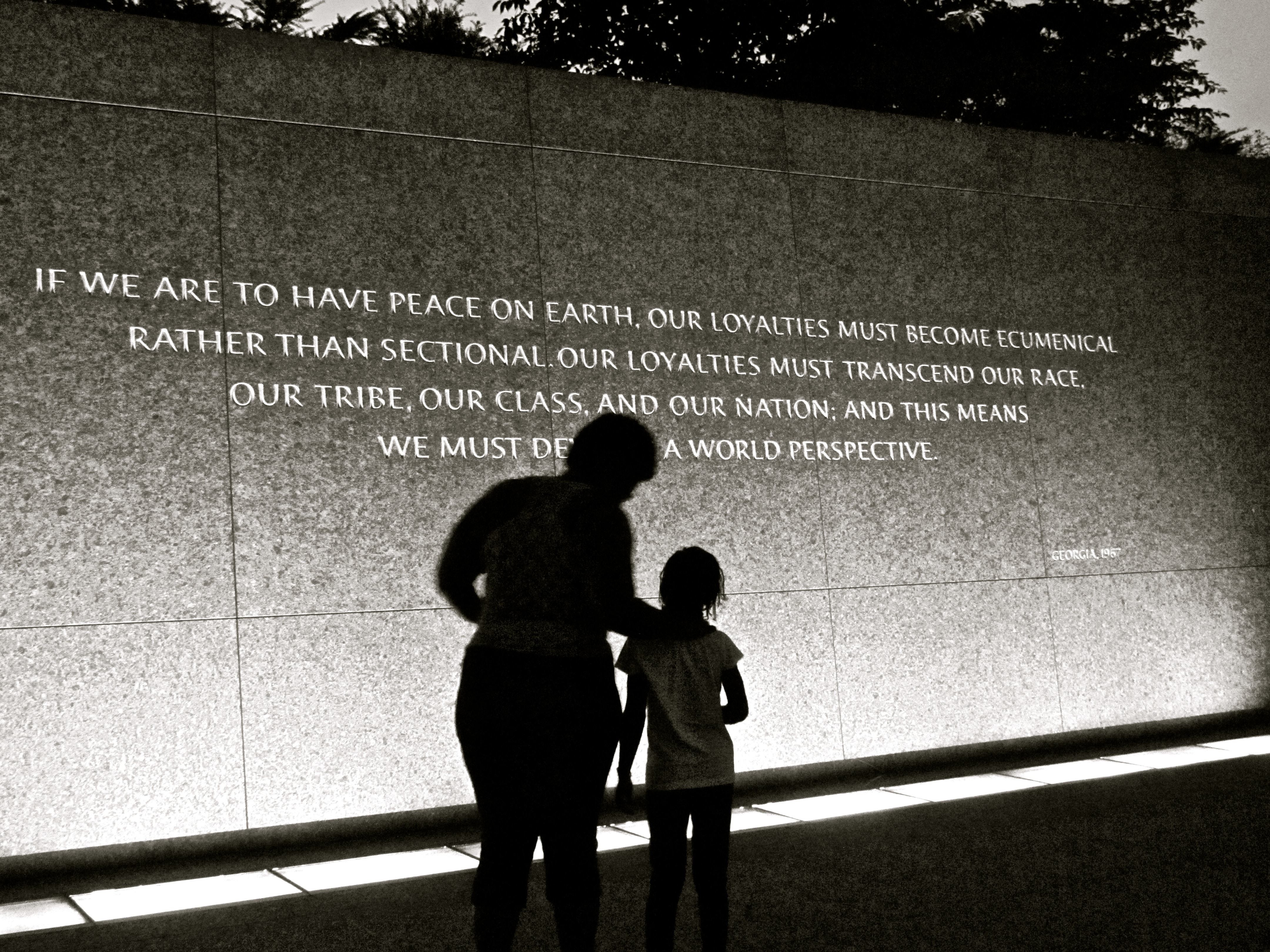 Quote by Martin Luther King Jr. on a wall at the museum in Washington, D.C.