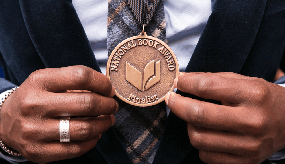 National Book Award finalists medallion (Credit Beowulf Sheehan)