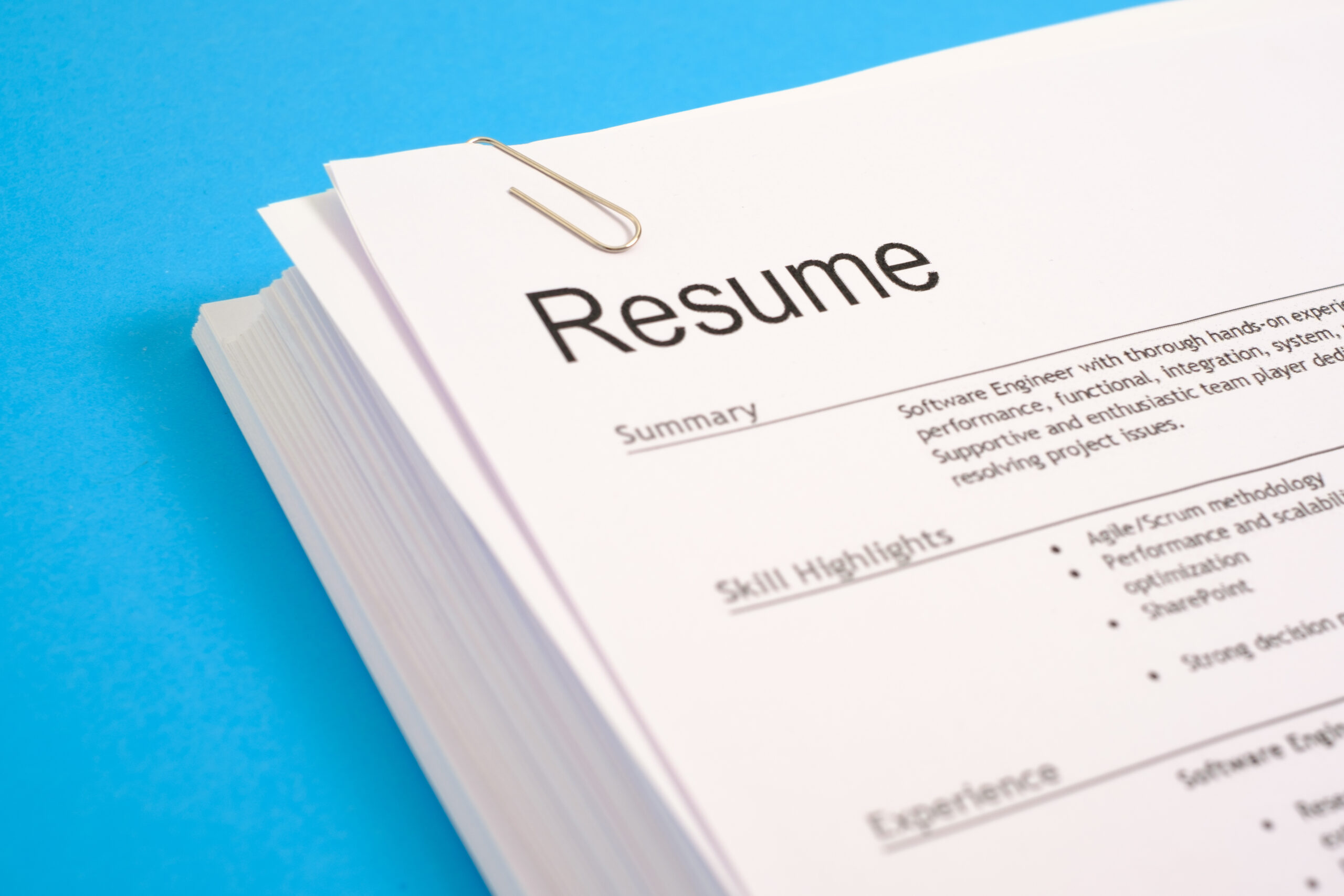 Getting started with a resume