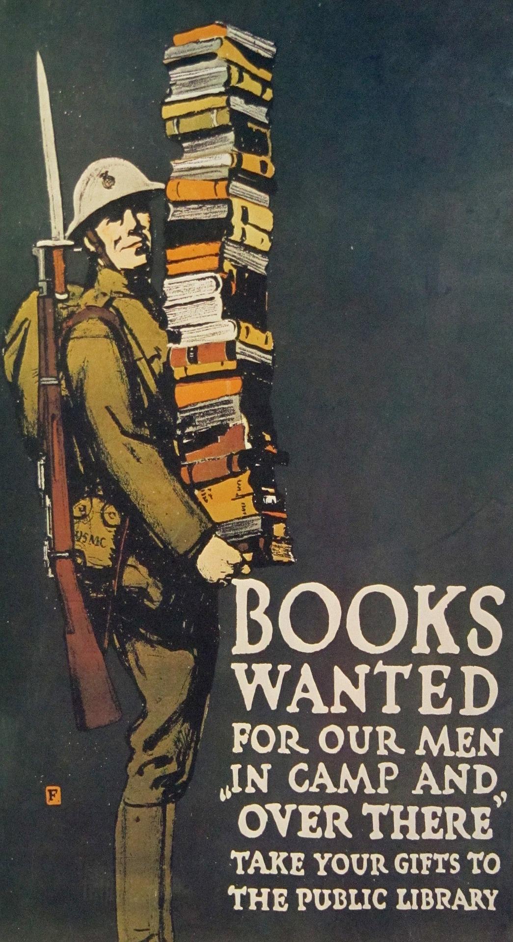World War I library poster - books