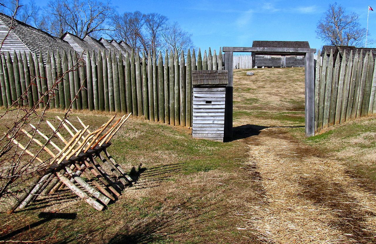 The front gate of Fort Loudoun (Wikipedia)