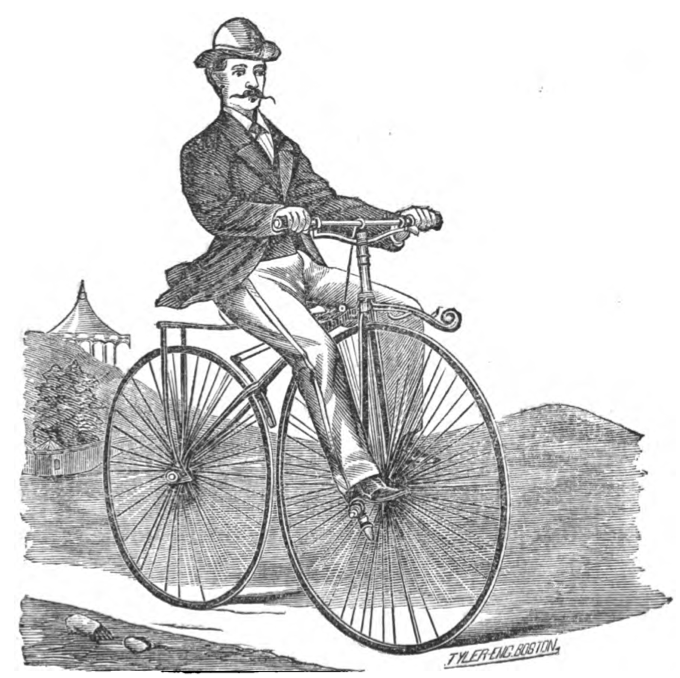 Depiction of a velocipede in 1869. (Goddard)