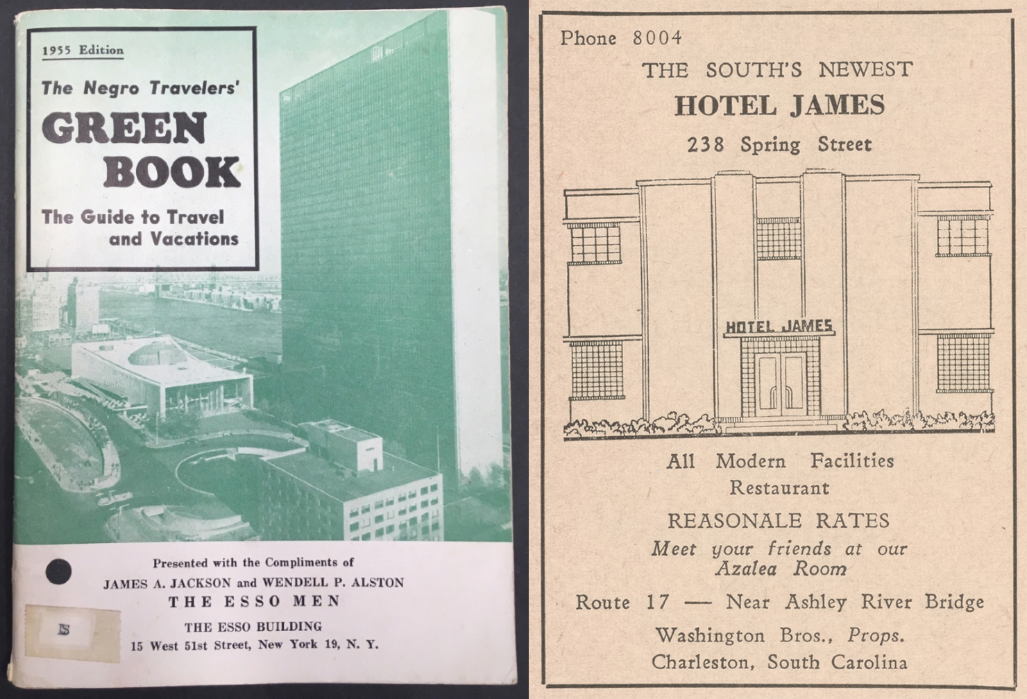 The Green Book for Charleston, 1938-1966