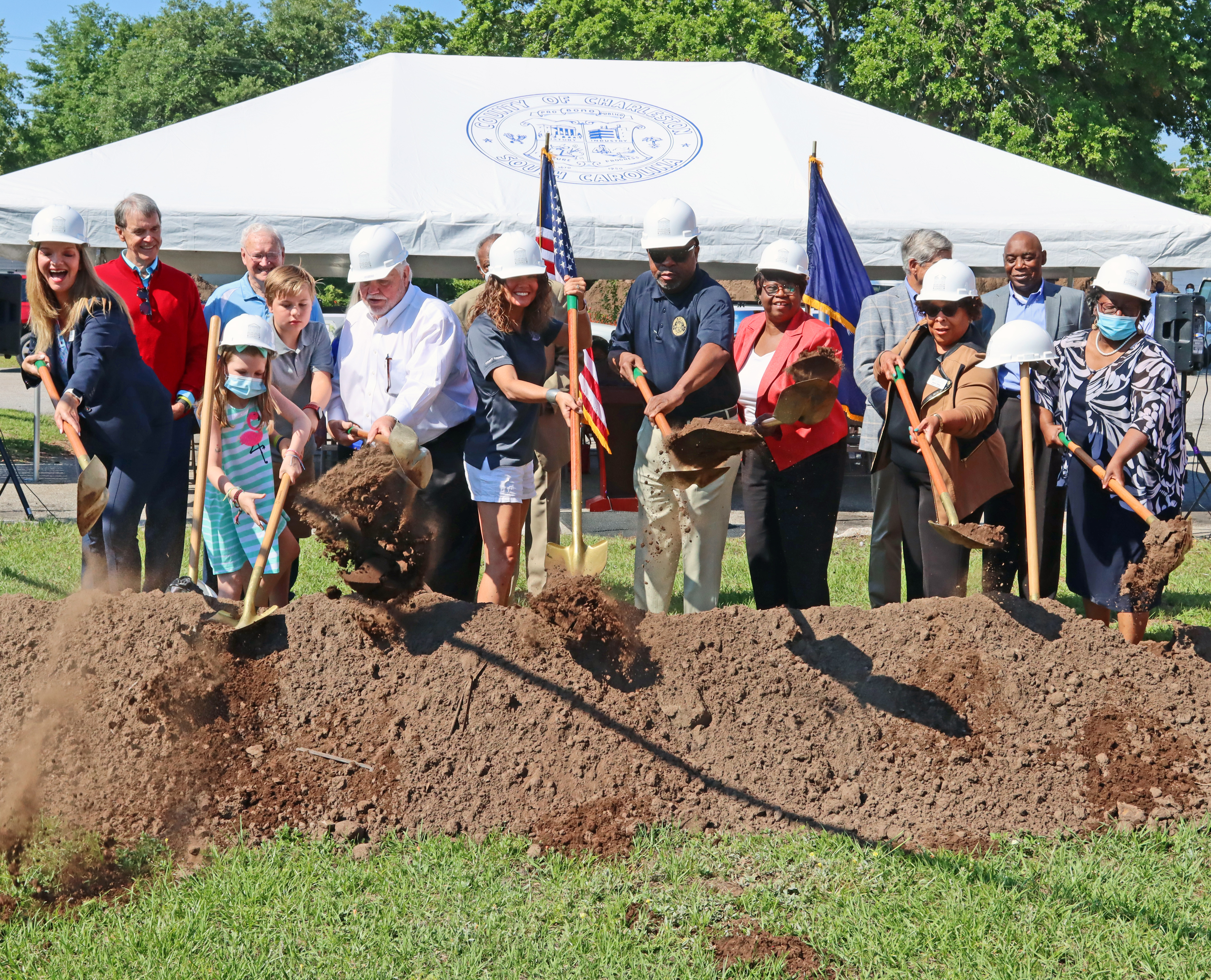 Charleston County Public Library, government officials break ground on new Keith Summey North Charleston Library