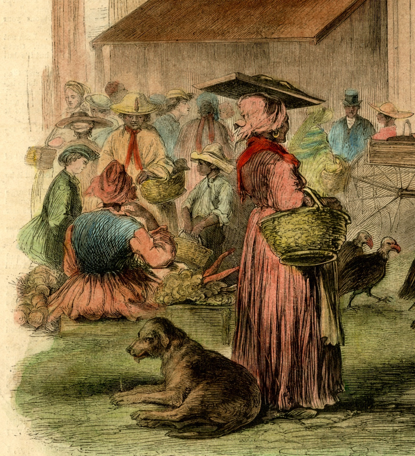 Market vendors in Charleston shown in the October 27, 1866 edition of Leslies Illustrated News.