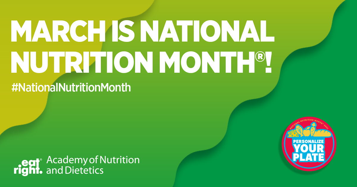 March is National Nutrition Month! Check out the deliciously fun upcoming events
