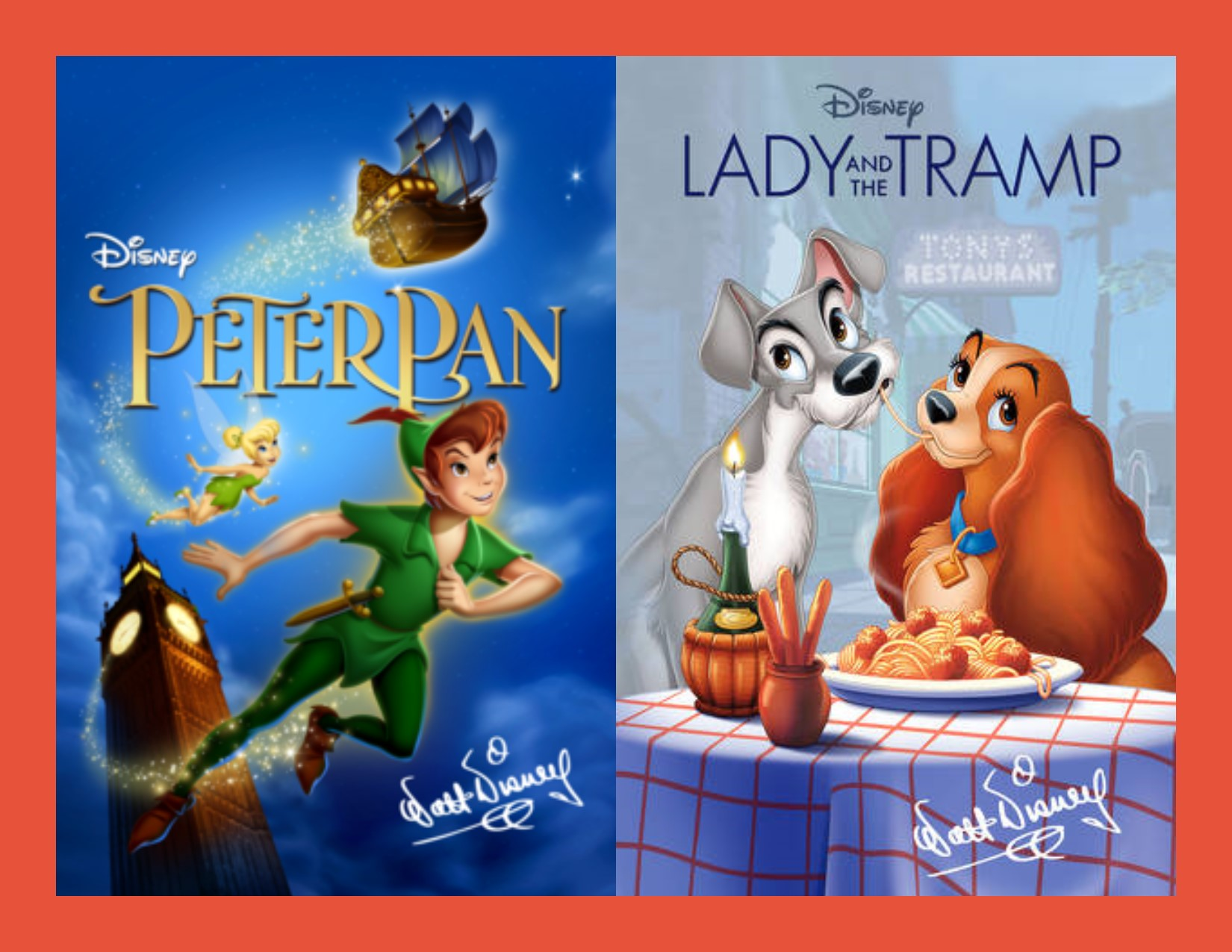 Movies: Peter Pan and Lady and the Tramp
