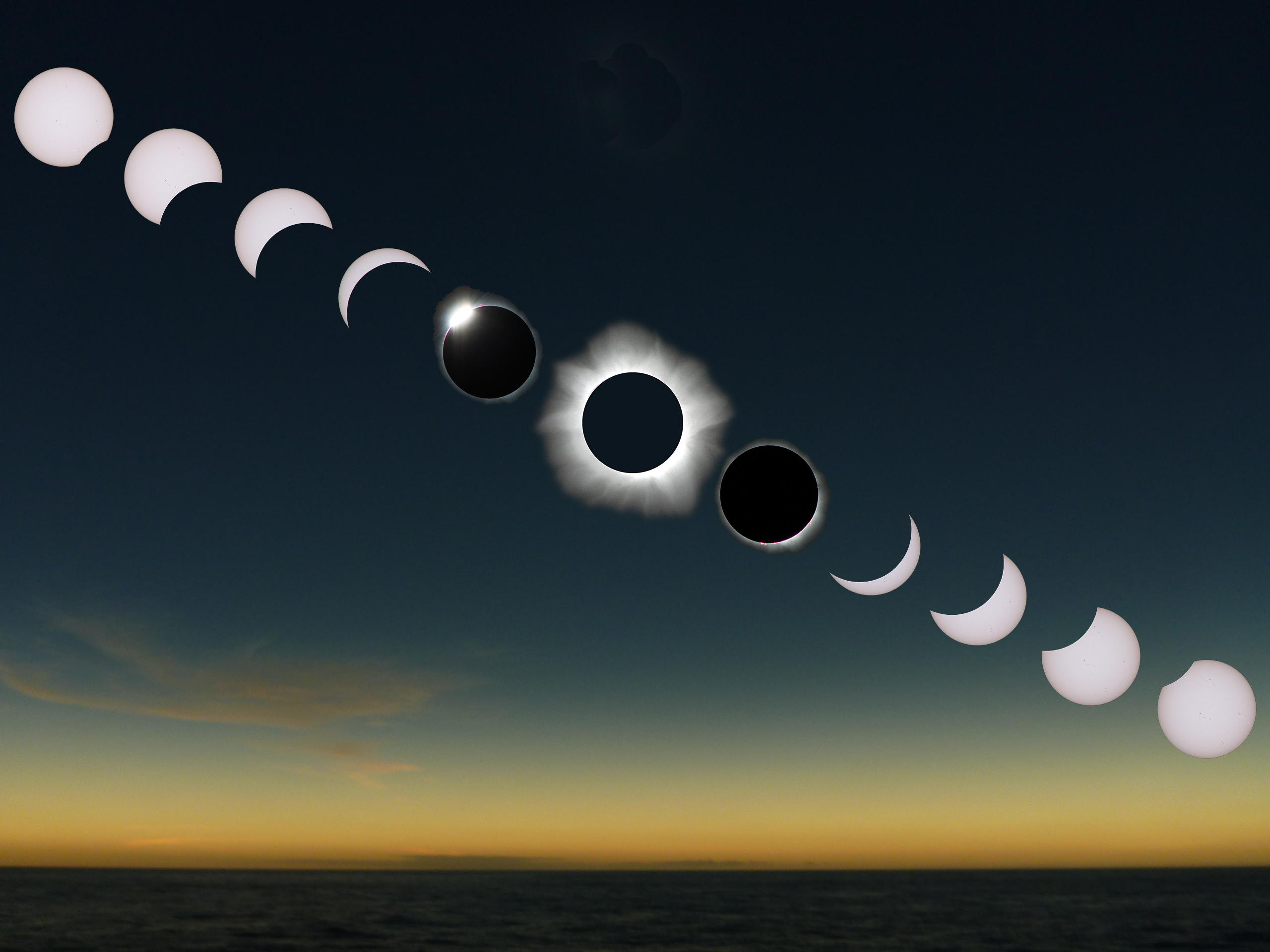 Eclipse sequence by Rick Fienberg