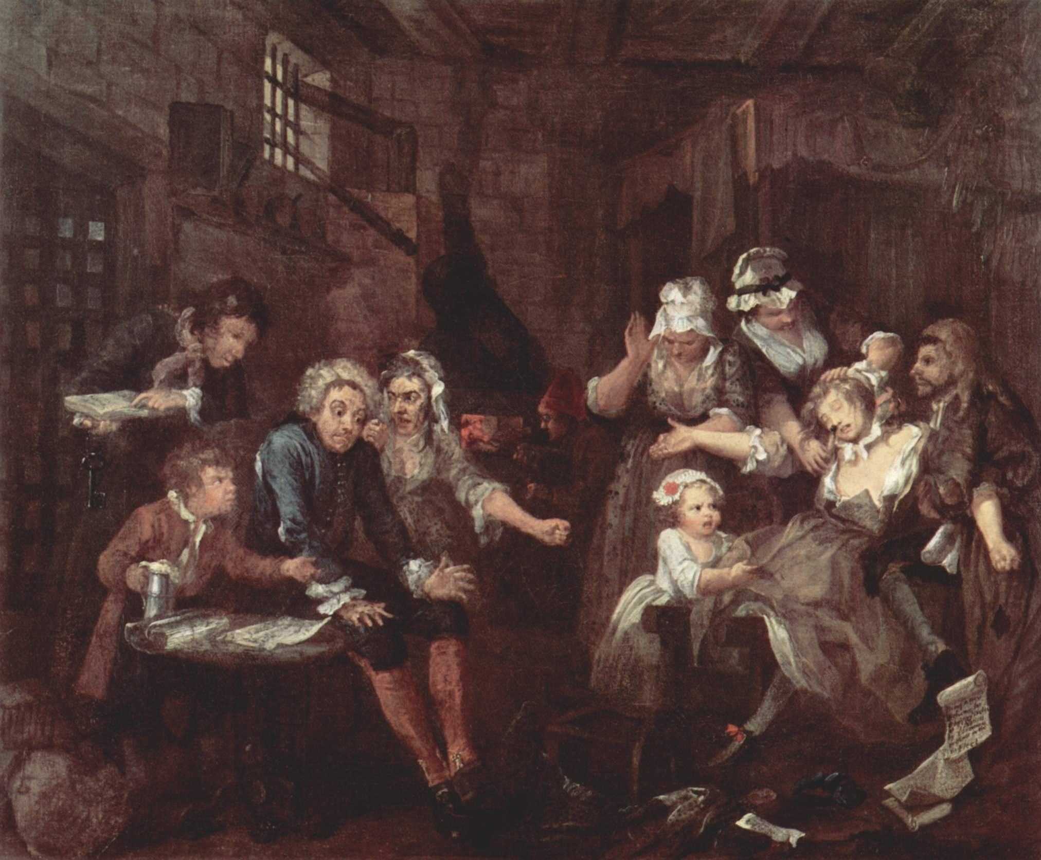 "William Hogarth's ""The Prison Scene"""