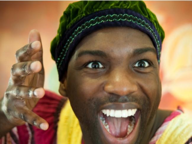 storyteller, african folktales, theatre, performance