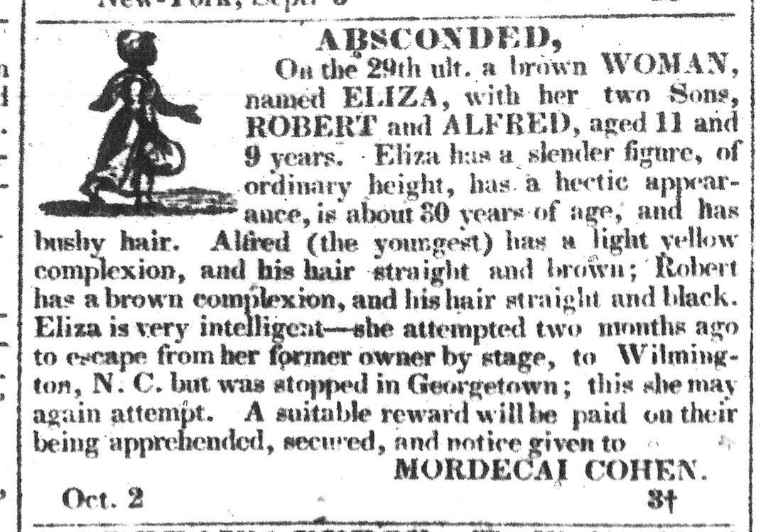 Charleston Courier, 2 October 1833