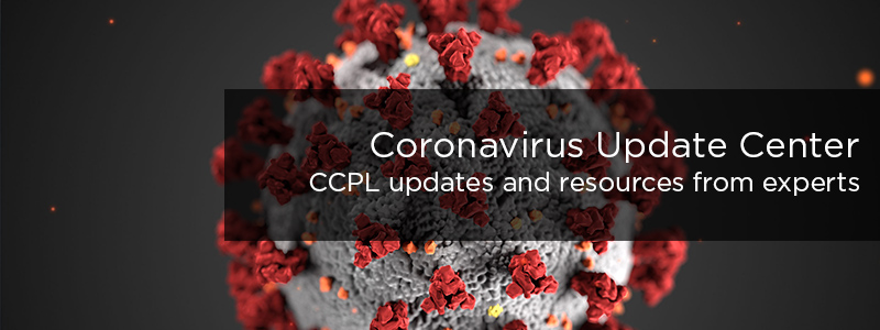 COVID-19 Information Center at CCPL - Find resources about the coronavirus and information from the library system.