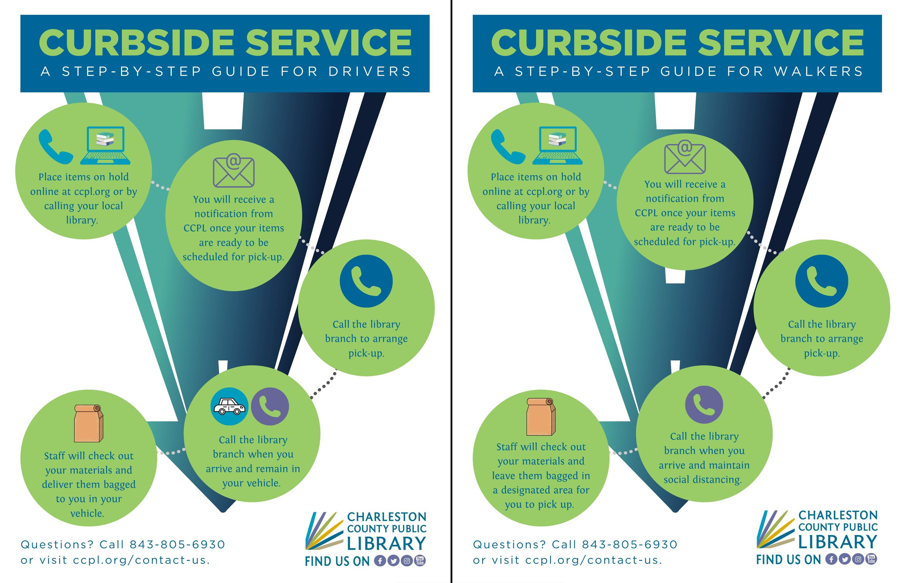 CCPL adjusts some of the announced curbside operation hours to begin June 8