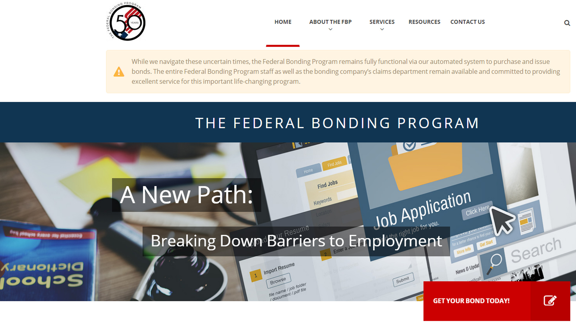 Spotlight on Jobseeker Services: The Federal Bonding Program