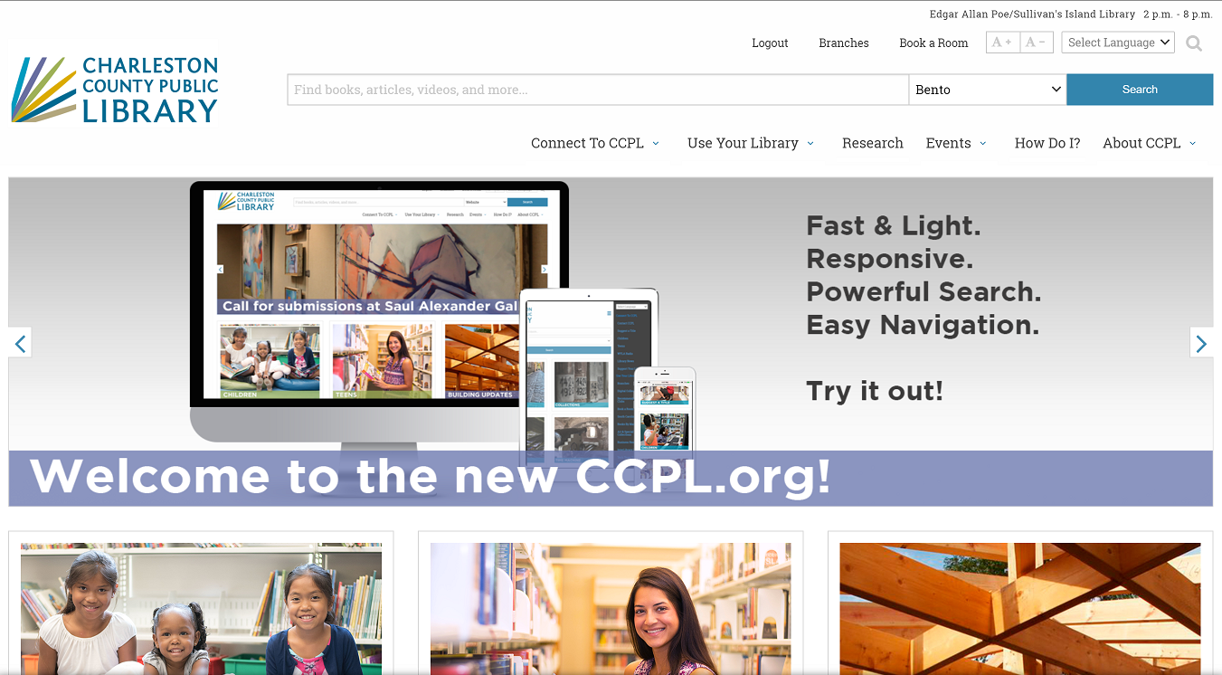 Charleston County Public Library launches new website