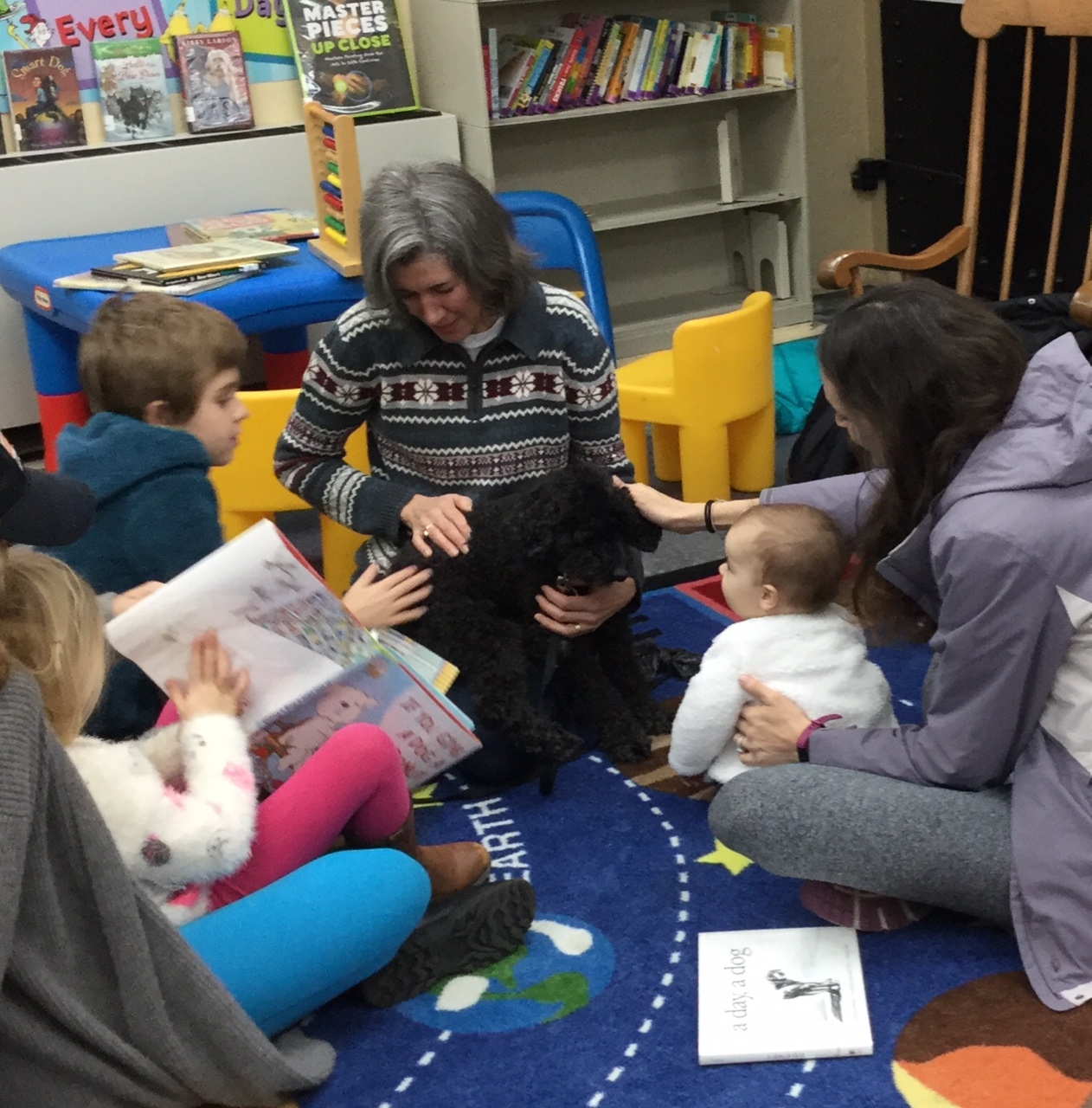 STAR Therapy Dogs at Poe Library (children)