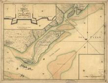 A 1776 Faden map of Sullivan's Island.