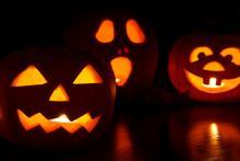 Jack o lanterns at Halloween