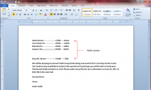 Mail Merge with Word