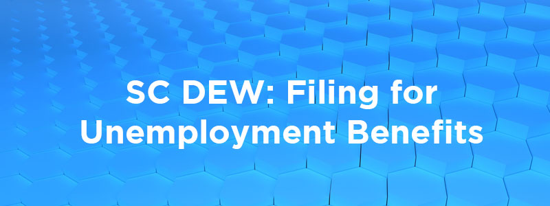 Filing for unemployment with SC DEW.