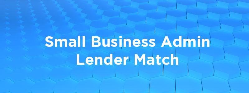 Small Business Association Lender Match.